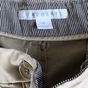 Trenery Shorts - Trenery Stretch Cotton Khaki Shorts - Size 12